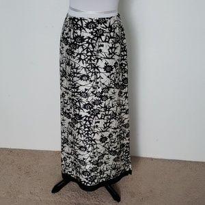 Coldwater Creek 100% Silk Maxi Skirt Size 14